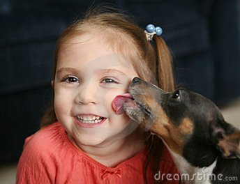 cute-girl-being-licked-dog-18224051